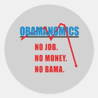 Obamanomics - No job. No money. Nobama Sticker