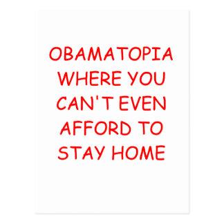 obamanomics postcard