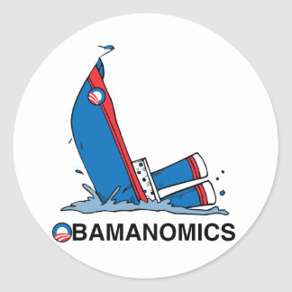 OBAMANOMICS SINKING STICKERS