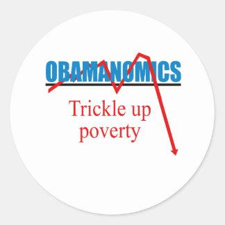 Obamanomics - Trickle up poverty Sticker