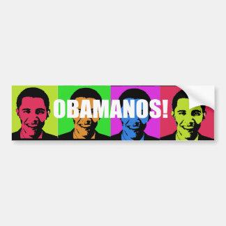 OBAMANOS (2) ETIQUETA DE PARACHOQUE