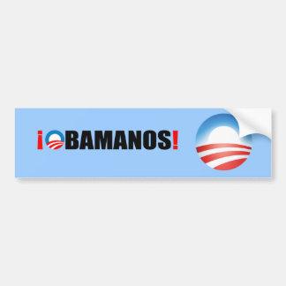 OBAMANOS CAR BUMPER STICKER