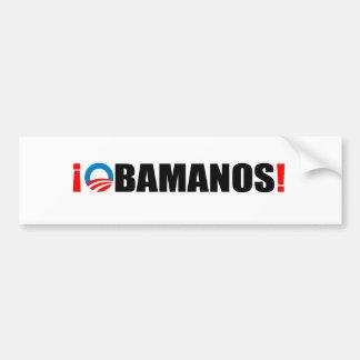 OBAMANOS PEGATINA DE PARACHOQUE
