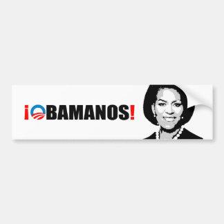 OBAMANOS ETIQUETA DE PARACHOQUE