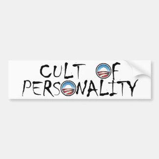 Obama's a Cult of Personality (in white) Car Bumper Sticker