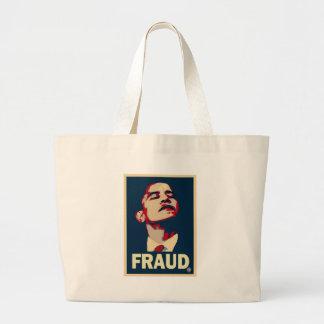 Obama's a Fraud Large Tote Bag