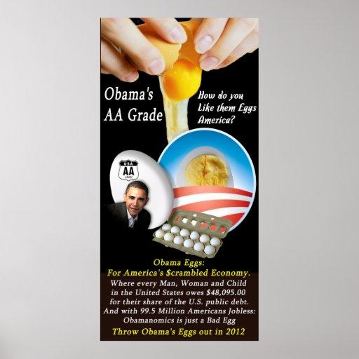 Obama's  AA Grade Poster