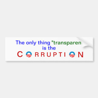 Obama's corrupt transparency bumper sticker