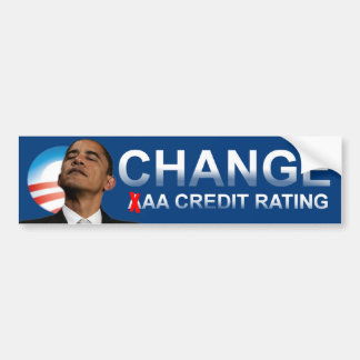 Obama's Credit Rating Bumper Sticker