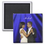 Obamas dance, At Last! 2 Inch Square Magnet