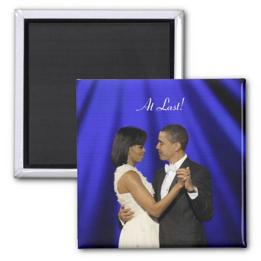 Obamas dance, At Last! Magnet