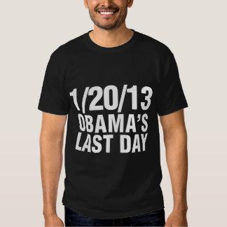 Obamas el día pasado 1/20/13 playera