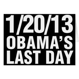 Obamas el día pasado 1/20/13 tarjeta de felicitación