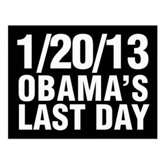 Obamas el día pasado 1/20/13 postal