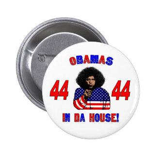 Obamas en botón de la casa de DA Pin Redondo De 2 Pulgadas