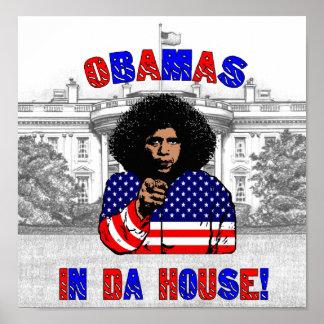 Obamas en poster de la casa de DA