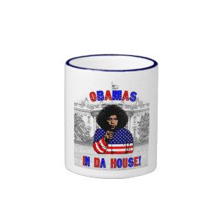 Obamas en taza de la casa de DA