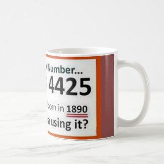 Obama's fake Social Security Number Coffee Mug