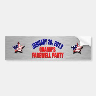 Obama's Farewell Party Bumper Sticker