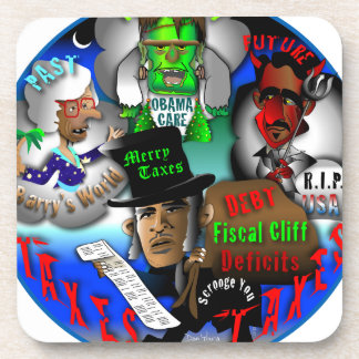 Obama's Ghosts of Christmas Coasters