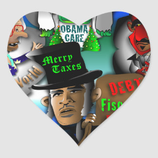 Obama's Ghosts of Christmas Heart Sticker