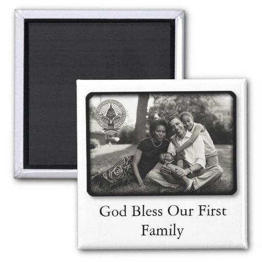 Obamas ~ God Bless Our First Family Fridge Magnets