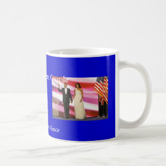 Obamas in True Class and Grace Classic White Coffee Mug