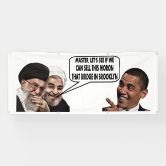 OBAMA'S IRANIAN DEAL 2.5' x 6' Outdoor Banner