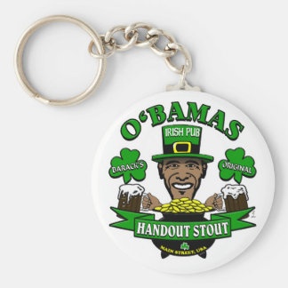Obama's Irish Pub 4 Your Next Social Party! Basic Round Button Keychain
