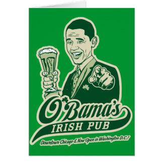 Obama's Irish Pub Card