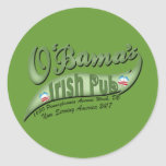 O'bama's Irish Pub Classic Round Sticker