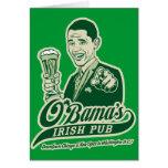 Obama's Irish Pub Greeting Card