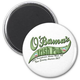 O'bama's Irish Pub 2 Inch Round Magnet