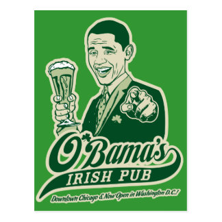 Obama's Irish Pub Postcard