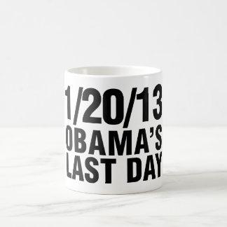 Obamas Last Day 1/20/13 Classic White Coffee Mug