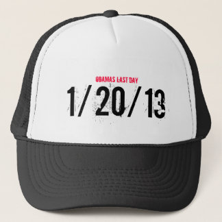 OBAMAS LAST DAY, 1/20/13 TRUCKER HAT