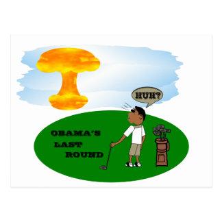 OBAMA'S LAST ROUND POSTCARD