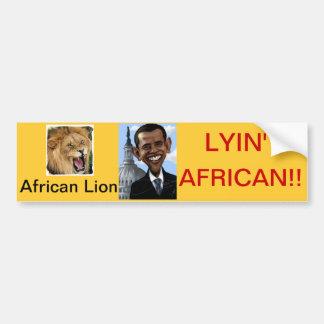 Obamas' lies bumper sticker