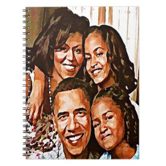 Obama's Love_ Spiral Notebook