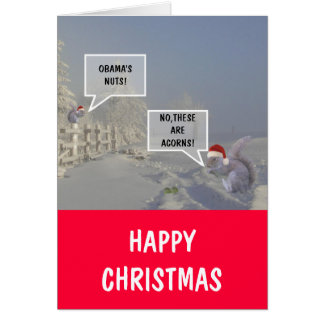 Obama's nuts Christmas Greeting Card