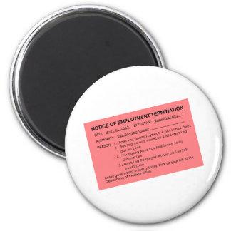 Obama's Pink Slip Refrigerator Magnet