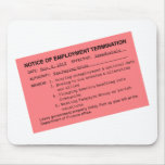 Obama's Pink Slip Mousepads