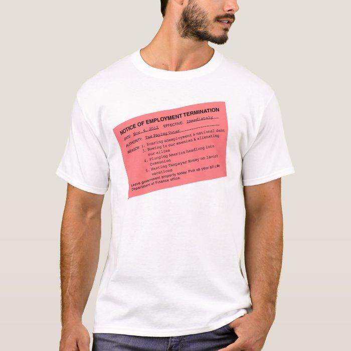 Obama's Pink Slip T-Shirt