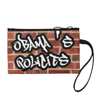 Obama's policies clear as a brick wall coin wallet