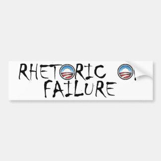 Obama's Rhetoric of Failure (in white) Car Bumper Sticker