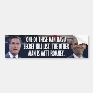 Obama's Secret Kill List Car Bumper Sticker