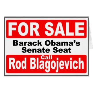 Obama's Senate Seat for Sale Card