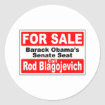 Obama's Senate Seat for Sale Classic Round Sticker