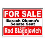 Obama's Senate Seat for Sale Postcard