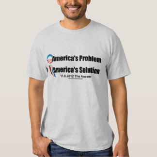 Obama's the Problem-Romney's the Solution Tee Shirt